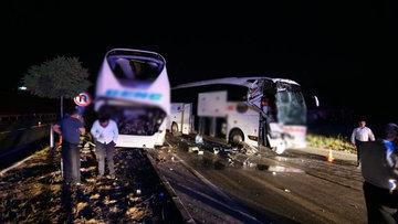 Çorum'da otobüs kazası: 13 yaralı