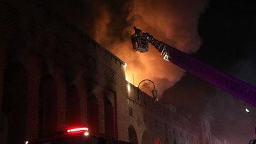 Irak'ta Osmanlı yadigarı Kayseri Çarşısı'nda yangın