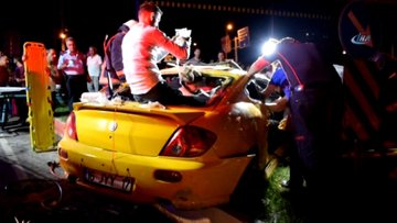 Malatya'da feci kaza! 2 kişi ağır yaralandı