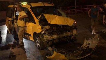 Önce taksiye sonra kaldırımdaki yaralılara çarptı