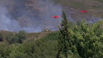 Tuzla Piyade Okulu içersinde bulunan otluk alanda yangın
