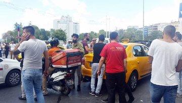 Taksim Meydanı'nda taksici-kurye kavgası