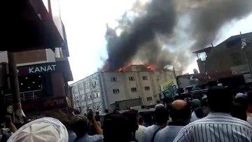Beyoğlu'nda tekstil atölyesinde yangın