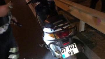 Antalya'da motosiklet kazası! 1 ölü, 1 yaralı