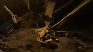 Sivas'ta çöken tavanın altında kalan baba öldü, kızı yaralandı