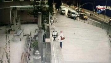 Türbede dua eden kadın, ölümden saniyelerle böyle kurtuldu