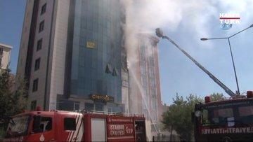 Ataşehir'de 9 katlı binada yangın paniği