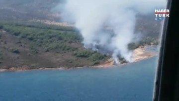 Cunda Adası'nda orman yangını