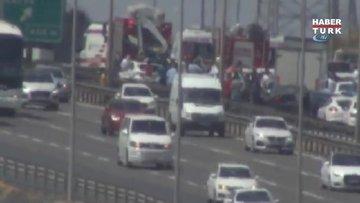 TEM Otoyolu Kurtköy kavşağında zincirleme trafik kazası
