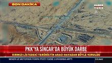 PKK'ya Sincar'da vurulan darbenin görüntüleri ortaya çıktı