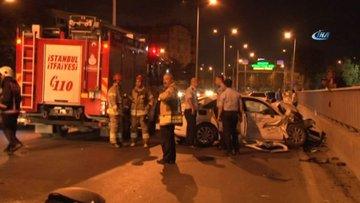 Bakırköy'de trafik kazası' 2'si ağır 3 kişi yaralandı