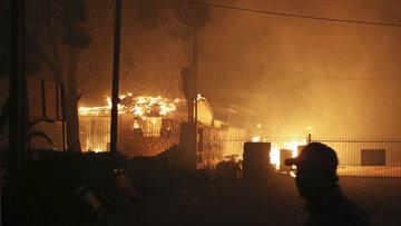 Atina'yı kül eden yangının görüntüleri çıktı