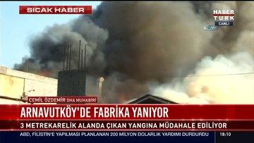 İstanbul'da korkutan yangın! Ekipler müdahale ediyor