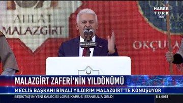 Meclis Başkanı Binali Yıldırım Malazgirt'te konuştu