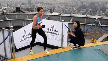 Çin'de gökdelen maratonu! 2 bin basamağı koşarak çıktılar