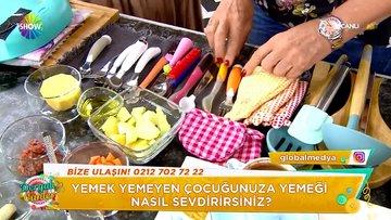 Sibel Güngör'den çocuklar için yemek yapımı!