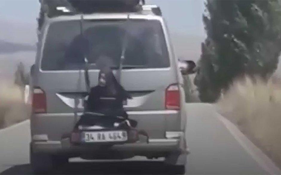 Bu kadarına da pes! Çankırı'da bir kadını aracın arkasına bağladılar