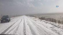 Ağustos ayında Kars beyaza büründü