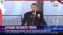 Cumhurbaşkanı Erdoğan Astsubay mezuniyet töreninde konuştu