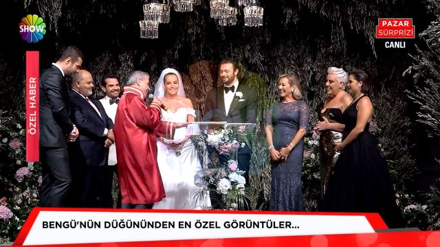 Bengü'nün düğününden çok özel görüntüler!