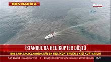 Kaza yeri drone ile görüntülendi