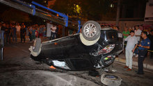 Kontrolden çıkan otomobil devrildi: 4 yaralı