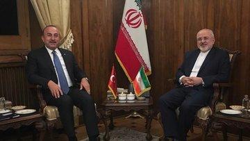 Çavuşoğlu, İranlı mevkidaşı Zarif ile görüştü