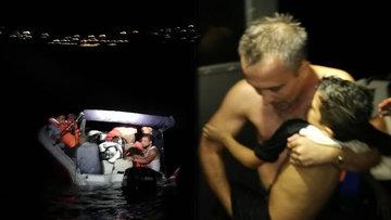 Ege Denizi'nde can pazarı! 13 kaçak göçmeni taşıyan tekne battı