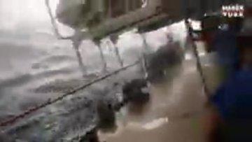 Yolcular dehşeti yaşadı! Gemi kaptanı kahkahalara boğuldu