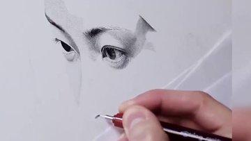 2.5 milyon noktayla 200 saatte yaptığı resim büyüledi