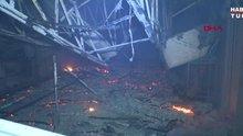 Çikolata fabrikasındaki yangın korkuttu