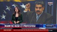Miami'de Nusr-et protestosu: Miami'de yaşayan Venezuelalılar Maduro'yu protesto etti