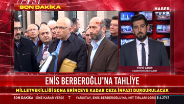 Enis Berberoğlu'na tahliye