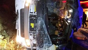 TEM'de feci kaza: 1 ölü, 18 yaralı