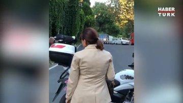 Nilüfer konsere motosikletle gitti