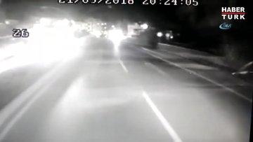 Samsun'da 2 kişinin öldüğü kazanın güvenlik kamerası görüntüleri ortaya çıktı