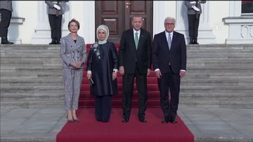 Cumhurbaşkanı Erdoğan Almanya'da - Karşılama töreni