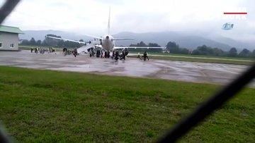 Zonguldak'ta uçak pistten çıktı