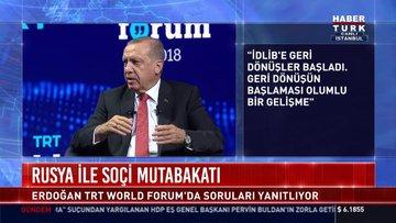 Cumhurbaşkanı Erdoğan, TRT World Forumu'nun kapanışında konuştu