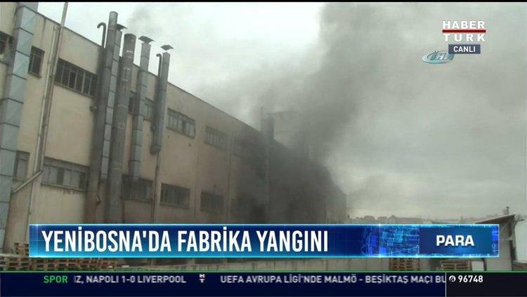 Yenibosnada Fabrika Yangını Boya Fabrikasında çıkan Yangına