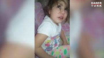 Küçük kız şehitler için gözyaşı döktü