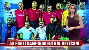 AK Parti kampında futbol heyecanı