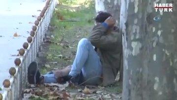Dolmabahçe'de kaza yapan alkollü motosikletlinin dünya umurunda olmadı