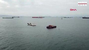 Yenikapı açıklarında iki gemi çarpıştı