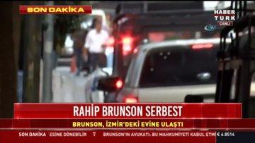 Brunson, İzmir Alsancak'taki evine ulaştı