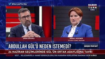 Meral Akşener Habertürk TV'de soruları yanıtladı
