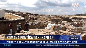 Komana pontika antik kenti'ndeki kazı çalışmaları