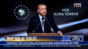 MHP'nin af teklifi: Erdoğan: Son tartışmalar kamuoyunda rahatsızlığı arttırdı