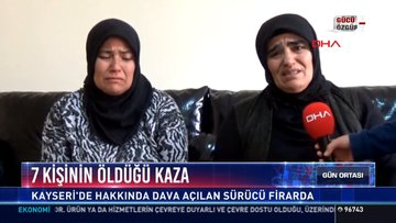 7 kişinin öldüğü kaza: Kayseri'de hakkında dava açılan sürücü firarda