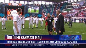 Erdoğan Diyarbakır'daki maçın başlama vuruşunu yaptı